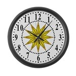 Yellow Guiding Star 1 Large Wall Clock