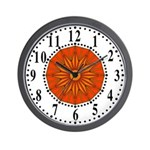 Orange Guiding Star 2 Wall Clock
