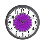 Lavender Guiding Star 2 Wall Clock