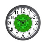 Green Guiding Star 2 Wall Clock