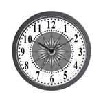 Gray Guiding Star 2 Wall Clock
