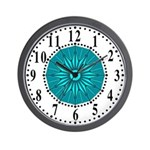 Cyan Guiding Star 2 Wall Clock