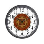 Brown Guiding Star 2 Wall Clock