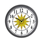 Yellow Guiding Star 1 Wall Clock