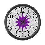 Lavender Guiding Star 1 Large Wall Clock
