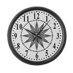Gray Guiding Star 1 Large Wall Clock