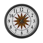 Brown Guiding Star 1 Large Wall Clock
