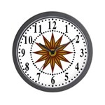 Brown Guiding Star 1 Wall Clock