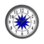 Blue Guiding Star 1 Wall Clock