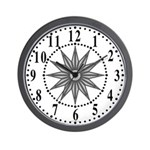 Gray Guiding Star 1 Wall Clock