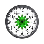 Green Guiding Star 1 Wall Clock