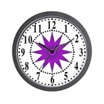 Lavender Guiding Star 1 Wall Clock