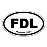Fiddle Oval Decal