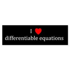 I Heart differentiable equations Bumper Bumper Sticker