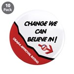 "Obama Approval Rating 3.5"" Button (10 pack)"