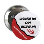 "Obama Approval Rating 2.25"" Button (100 pack)"