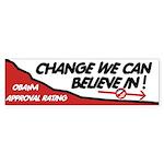 Obama Approval Rating Bumper Sticker