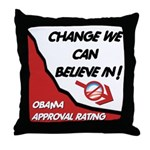 Obama Approval Rating Throw Pillow