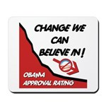 Obama Approval Rating Mousepad