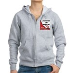 Obama Approval Rating Women's Zip Hoodie