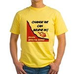 Obama Approval Rating Yellow T-Shirt