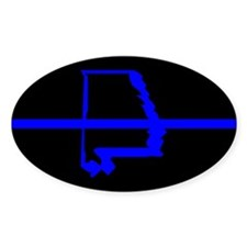 Alabama Thin Blue Line Oval Decal