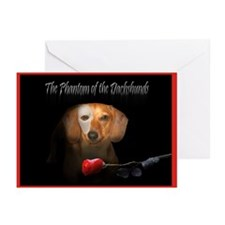 Phantom Doxie Greeting Cards (Pk of 10)