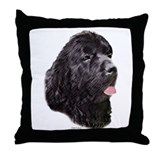 newfoundland head study Throw Pillow