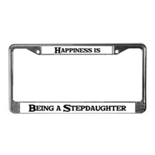 Happiness: Stepdaughter License Plate Frame