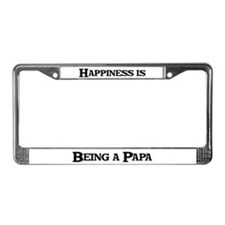 Happiness: Papa License Plate Frame