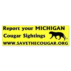 SaveTheCougar.Org Bumper Sticker