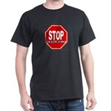 STOP SNITCHING Black T-Shirt - #1 PREMIUM WEIGHT