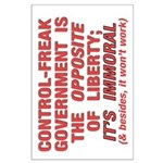 35x23 Control-Freak Govt Poster
