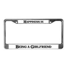 Happiness: Girlfriend License Plate Frame