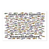 Homeschool Fish Postcards (Package of 8)