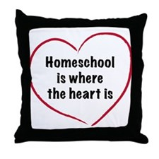 Homeschool Heart Throw Pillow