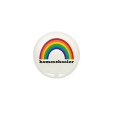 Homeschool Rainbow Mini Button (10 pack)