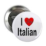 I Love Italian Button