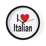 I Love Italian Wall Clock