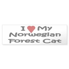 Norwegian Forest Cat Bumper Bumper Sticker