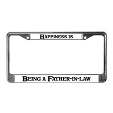 Happiness: Father-in-law License Plate Frame
