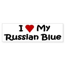 Russian Blue Bumper Car Sticker