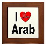I Love Arab Framed Tile