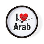 I Love Arab Wall Clock