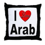 I Love Arab Throw Pillow