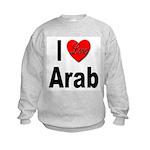 I Love Arab (Front) Kids Sweatshirt