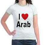 I Love Arab (Front) Jr. Ringer T-Shirt