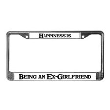 Happiness: Ex-Girlfriend License Plate Frame