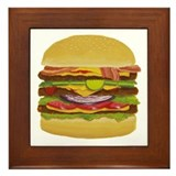 cheeseburger king Framed Tile