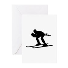 Ski Downhill Greeting Cards (Pk of 20)